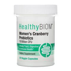 HealthyBiom, 女性蔓越莓益生菌,100 亿 CFU,30 粒素食胶囊