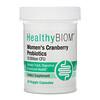 HealthyBiom, Women's Cranberry Probiotics, 10 Billion CFU, 30 Veggie Capsules