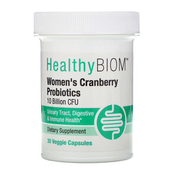 Women's Cranberry Probiotics, 10 Billion CFU, 30 Veggie Capsules