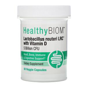 HealthyBiom, Lactobacillus Reuteri LRC with Vitamin D, 5 Billion CFUs, 60 Veggie Capsules отзывы