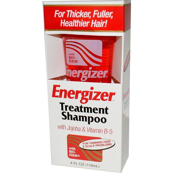 Energizer Treatment Shampoo with Jojoba & Vitamin B-5, 4 fl oz (118 ml)