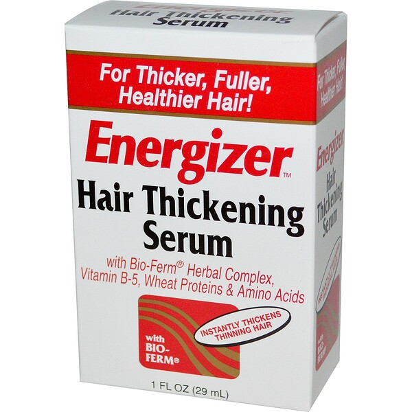 Hobe Labs, Energizer, Hair Thickening Serum, 1 fl oz (29 ml) (Discontinued Item)