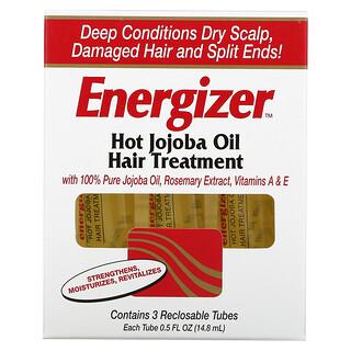Hobe Labs, Energizer, Hot Jojoba Oil Hair Treatment, 3 Reclosable Tubes, 0.5 fl oz (14.8 ml) Each