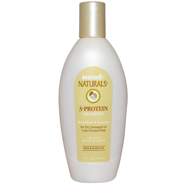 Hobe Labs, 3-Protein Shampoo, 12 fl oz (354 ml)