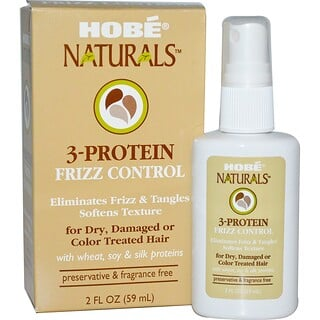 Hobe Labs, 3-Protein Frizz Control, 2 fl oz (59 ml)