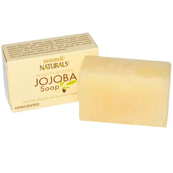 Hobe Labs, Moisturizing Jojoba Soap, Unscented, 4 oz (113 g) (Discontinued Item)