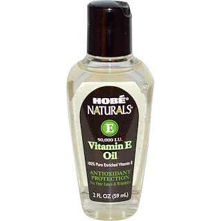 Hobe Labs, Naturals, Vitamin E Oil, 50,000 IU, 2 fl oz (59 ml)