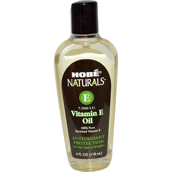 Hobe Labs, Naturals Vitamin E Oil, 7,500 IU, 4 fl oz (118 ml)