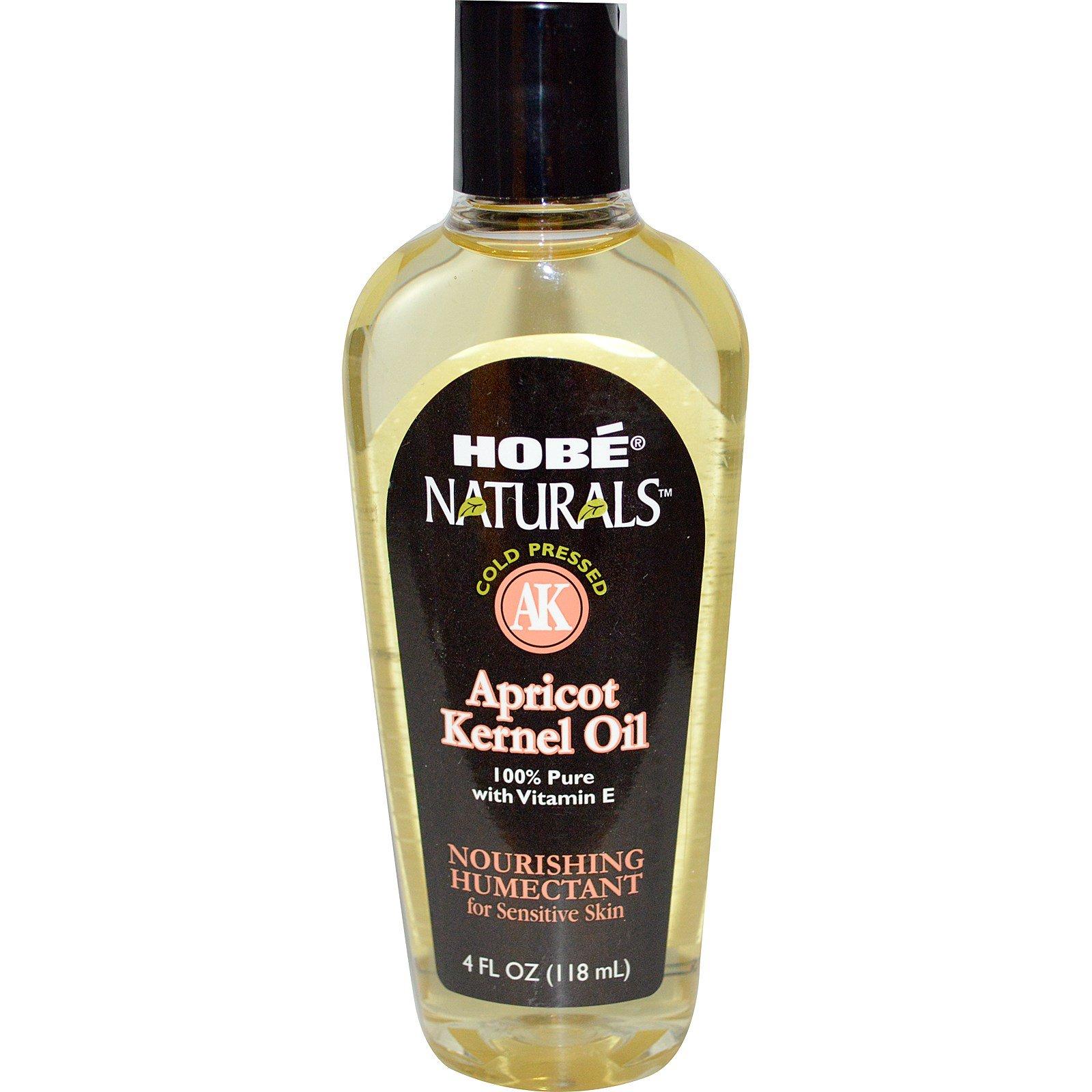 Hobe Labs, Naturals, Абрикосовое масло, 4 жидких унции (118 мл)