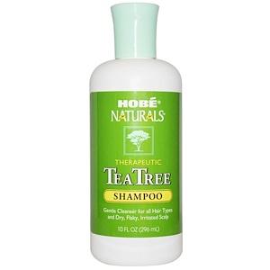 Hobe Labs, Шампунь, чайное дерево, 10 жидких унций (296 мл)