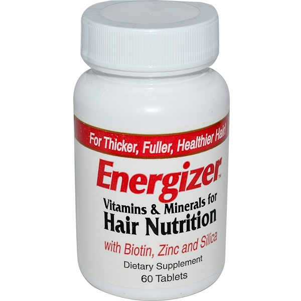 Hobe Labs, Energizer, Vitamins & Minerals for Hair Nutrition, 60 Tablets (Discontinued Item)