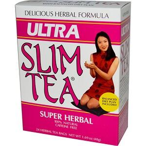 Хоуб Лэбс, Ultra Slim Tea, Super Herbal, Caffeine Free , 24 Herbal Tea Bags, 1.69 oz (48 g) отзывы покупателей