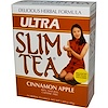 Hobe Labs, Ultra Slim Tea, Cinnamon Apple, Caffeine Free, 24 Herbal Tea Bags, 1.69 oz (48 g)