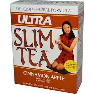 Хоуб Лэбс, Ultra Slim Tea, Cinnamon Apple, Caffeine Free, 24 Herbal Tea Bags, 1.69 oz (48 g) отзывы