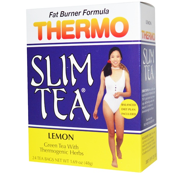 Hobe Labs, Thermo Slim Tea, Fat Burner Formula, Lemon, 24 Tea Bags, 1.69 oz (48 g) (Discontinued Item)