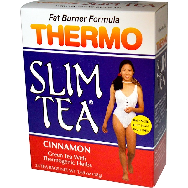 Hobe Labs, Thermo Slim Tea, Fat Burner Formula, Cinnamon, 24 Tea Bags, 1.69 oz (48 g)