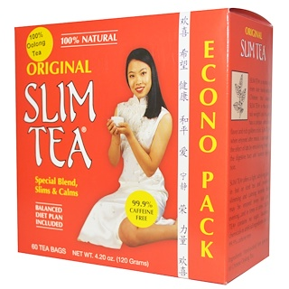 Hobe Labs, Slim Tea, Original, 60 Tea Bags, 4.20 oz (120 g)