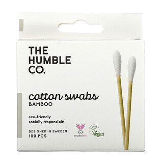 The Humble Co., Bamboo Cotton Swabs, White, 100 Swabs