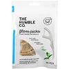 The Humble Co., 2-In-1 Floss Picks, Mint, 50 Picks