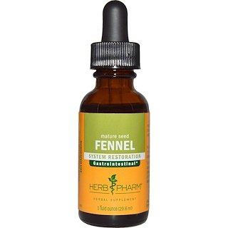 Herb Pharm, Fenchel, Reife Samen, (1 fl oz 29.6 ml)