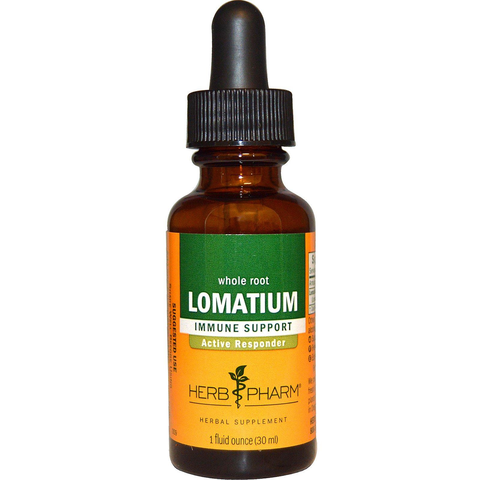 Herb Pharm, Ломатиум, цельный корень, 1 жидкая унция (30 мл)