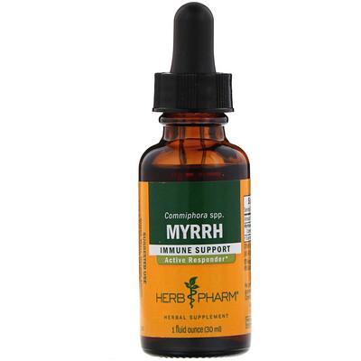 Купить Herb Pharm Myrrh, 1 fl oz (30 ml)