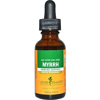 Herb Pharm, Myrrh, Sun-Dried Tree Resin, 1 fl oz (30 ml)