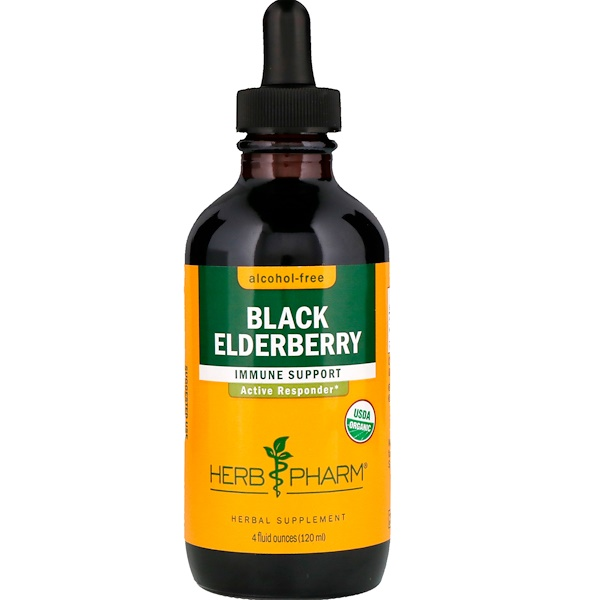 Herb Pharm, Black Elderberry, Alcohol-Free, 4 fl oz (120 ml) (Discontinued Item)