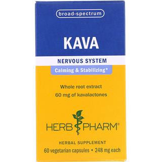 Herb Pharm, Kava, 248 mg, 60 Vegetarian Capsules