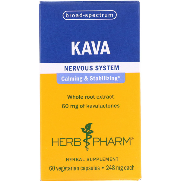 Herb Pharm, كاڤا، 248 مجم، 60 كبسولة نباتية (Discontinued Item)