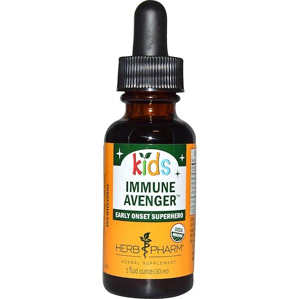 Herb Pharm, Kids, Immune Avenger, 1 fl oz (30 ml) (Discontinued Item)