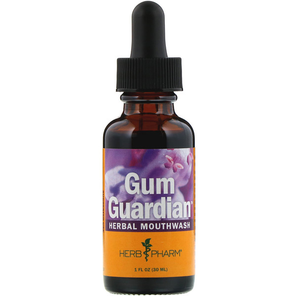 Herb Pharm, Gum Guardian, Herbal Mouthwash, 1 fl oz (30 ml) (Discontinued Item)