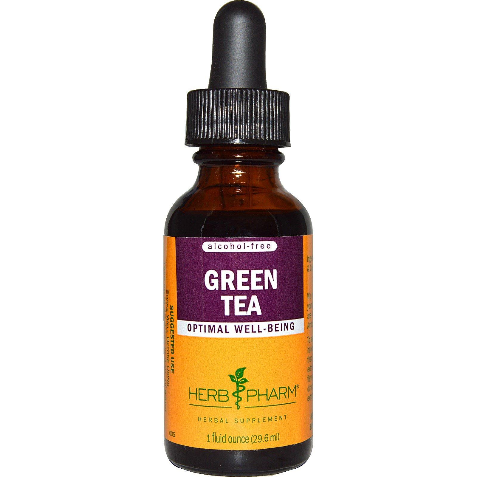 Herb Pharm, Зеленый чай, без спирта, 29,6 мл