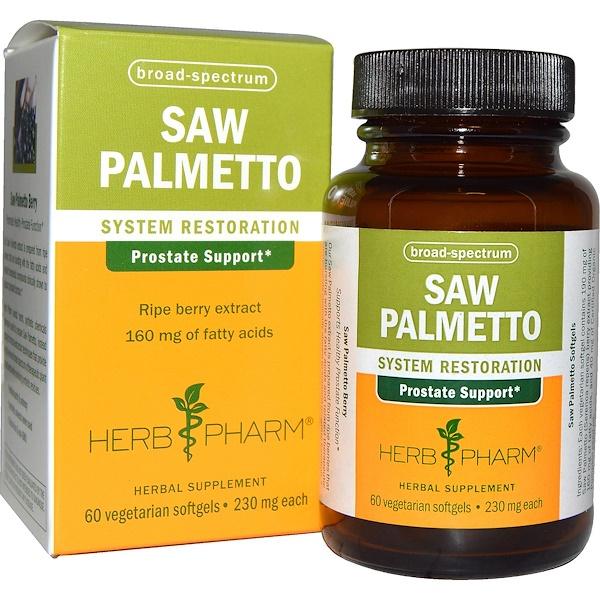 Herb Pharm, Saw Palmetto, 230 mg, 60 Veggie Softgels (Discontinued Item)