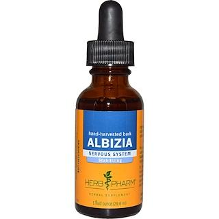 Herb Pharm, アルビジア(Albizia)、ハンドハーベステッド・バーク(手で収穫した樹皮)1液体オンス(29.6 ml)
