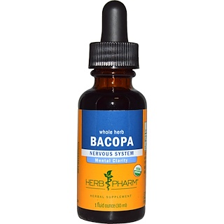 Herb Pharm, Bacopa, Whole Herb, 1 fl oz (30 ml)