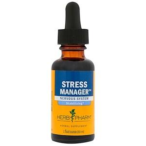 Herb Pharm, Управление стрессом, 1 ж. унц. (30 мл) инструкция, применение, состав, противопоказания