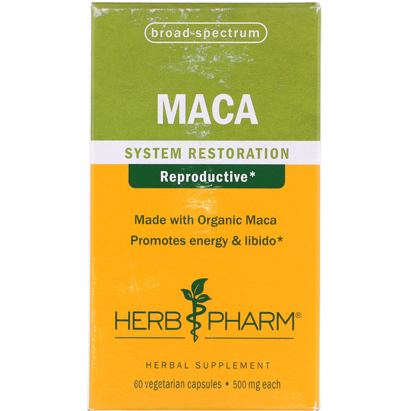 Herb Pharm, Maca, 500 mg, 60 Vegetarian Capsules