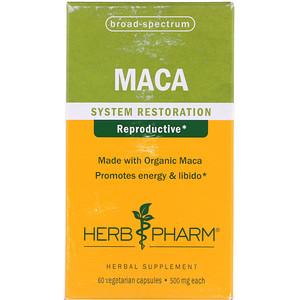 Херб Фарм, Maca, 500 mg, 60 Vegetarian Capsules отзывы