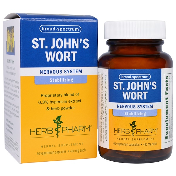 Herb Pharm, St. John's Wort, 460 mg, 60 Veggie Caps (Discontinued Item)