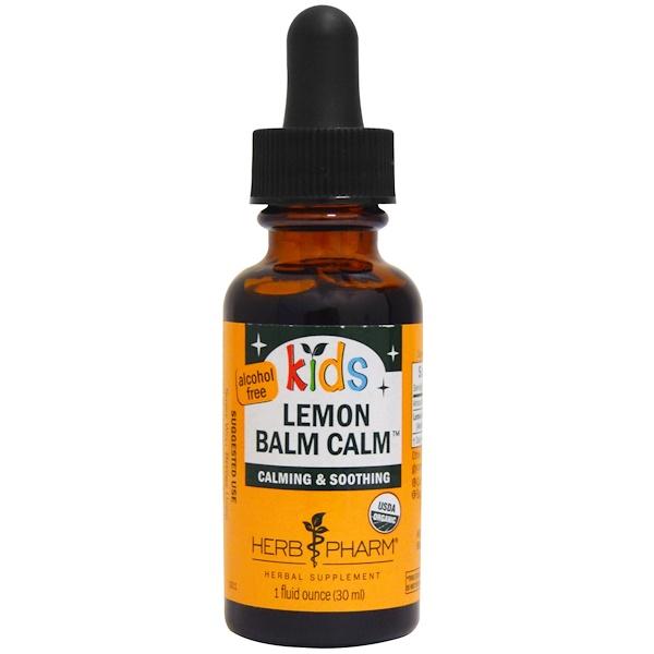 Herb Pharm, Kids Organic Lemon Balm Calm, Alcohol Free, 1 fl oz (30 ml)