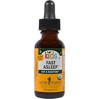 Herb Pharm, Apaisant bio Organic Kids Fast Asleep, Sans alcool, 30 ml