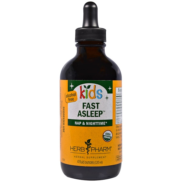 Herb Pharm, Kids Fast Asleep, Nap & Nighttime, Alcohol Free, 4 fl oz (120 ml) (Discontinued Item)