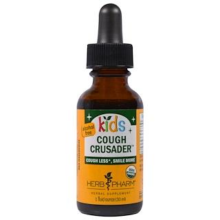 Herb Pharm, Anti-toux bio Organic Kids Cough Crusader, Sans alcool, 30 ml