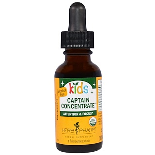 Herb Pharm, Kid's Captain Concentrate, Alcohol Free, 1 fl oz (30 ml)