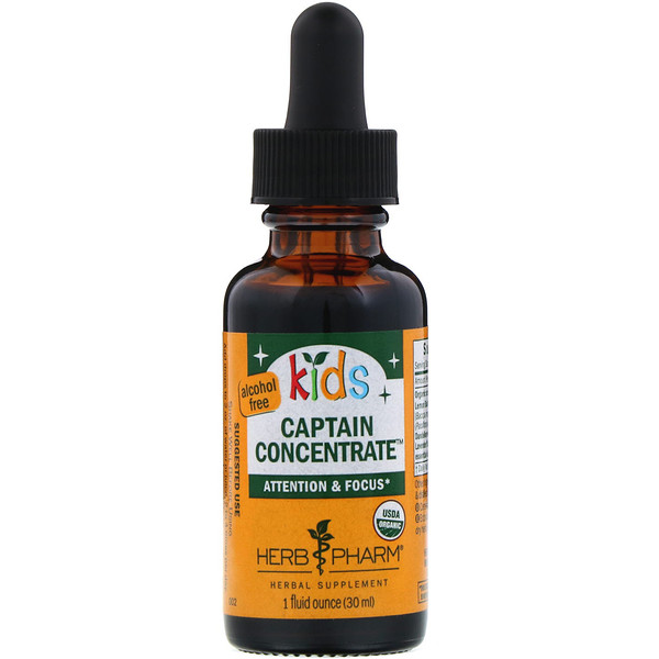 Herb Pharm, Kid's Captain Concentrate, Alcohol Free, 1 fl oz (30 ml) (Discontinued Item)