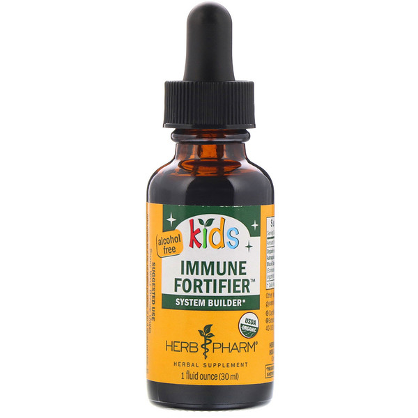 Herb Pharm, Kid's Immune Fortifier System Builder, Alcohol Free, 1 fl oz (30 ml)
