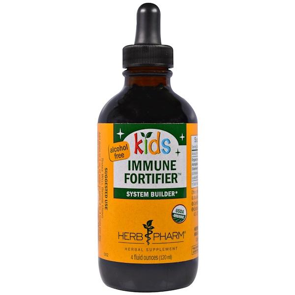 Herb Pharm, Kids Immune Fortifier System Builder, Alcohol Free, 4 fl oz (120 ml) (Discontinued Item)