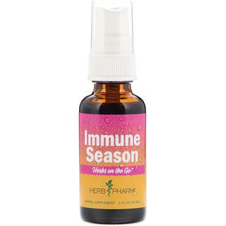 Herb Pharm, Herbs on the Go, иммунный сезон, 1 ж. унц.(30 мл)