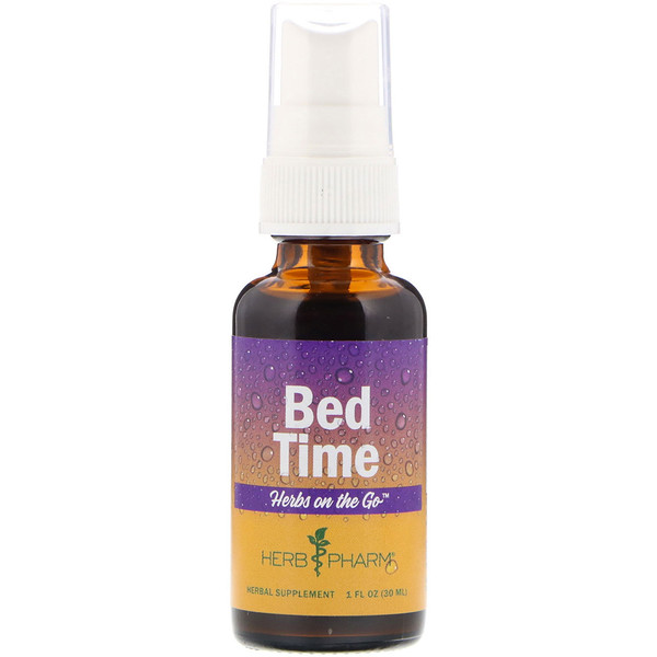 Herb Pharm, Herbs on the Go, Bed Time, 1 fl oz (30 ml) (Discontinued Item)